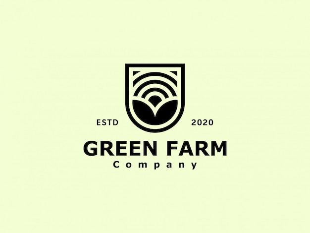 Logotipo da fazenda de agronomia vintage