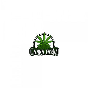 Logotipo da fazenda de cannabis