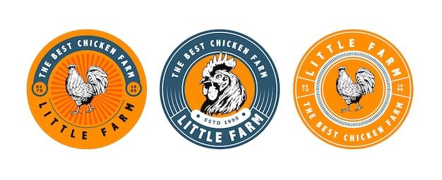 Logotipo da fazenda de frango