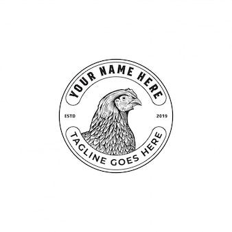 Logotipo da fazenda de galinhas