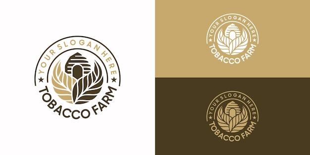 Logotipo da fazenda de tabaco vintage, referência do logotipo