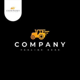 Logotipo da fazenda de trator