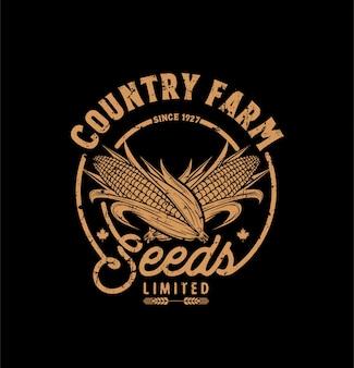 Logotipo da fazenda do país