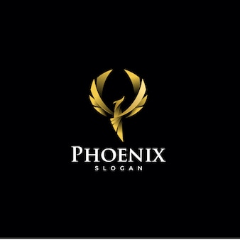 Logotipo da fênix de luxo