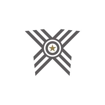 Logotipo da fita da medalha de prêmio logotipo da letra o