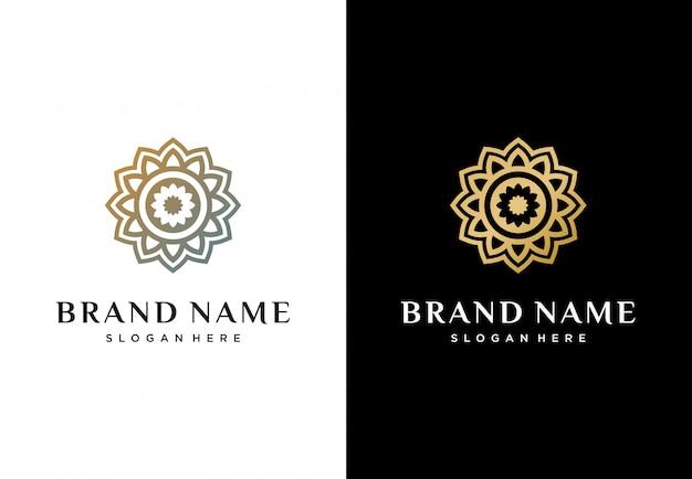 Logotipo da flor abstrata criativa