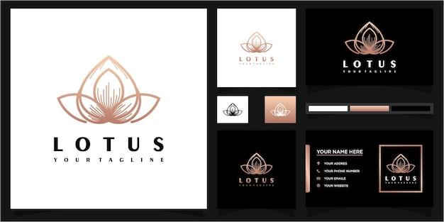 Logotipo da flor abstrata e referência de cartão de visita premium vector.