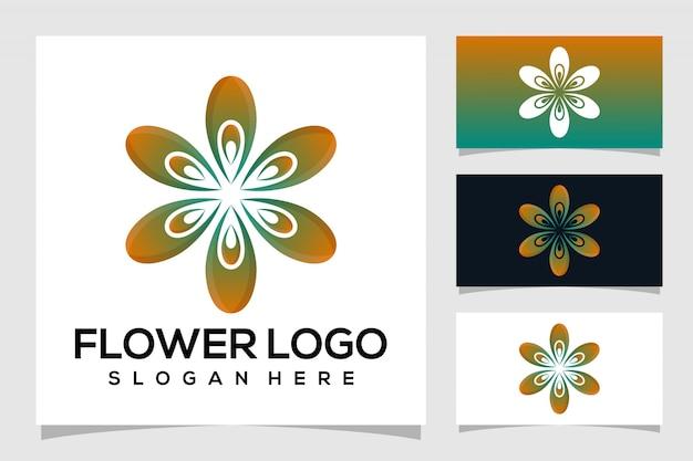 Logotipo da flor abstrata