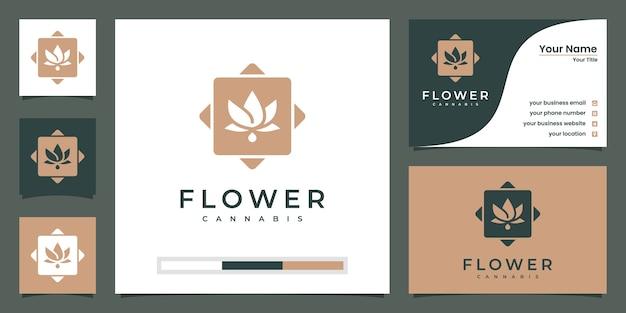 Logotipo da flor de lótus. centro de ioga, spa, logotipo de luxo do salão de beleza. design de logotipo e cartão de visita.