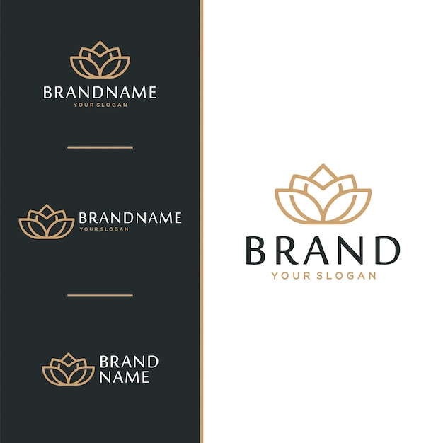 Logotipo da flor de lótus e conceito de design do ícone.