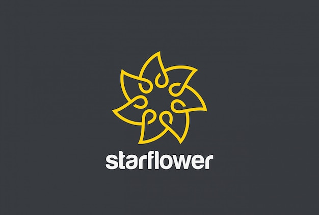 Logotipo da flor. estilo linear