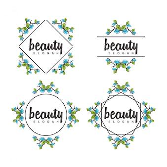 Logotipo da flor fronteira