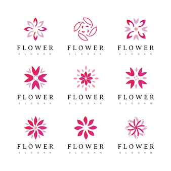Logotipo da flor ícone floral emblema floral. cosméticos, spa, hotel, salão de beleza, decoração, logotipo da boutique.