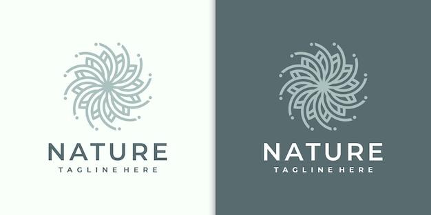 Logotipo da flor moderno