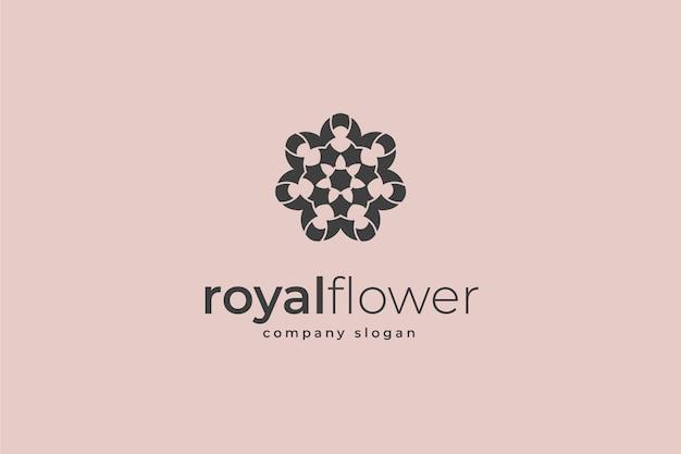 Logotipo da flor real