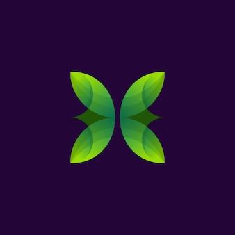 Logotipo da flor verde