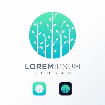 Logotipo da floresta