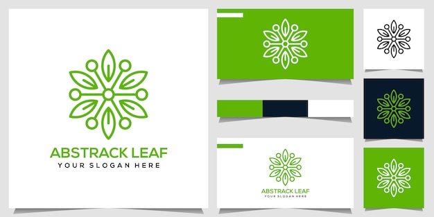 Logotipo da folha abstrata