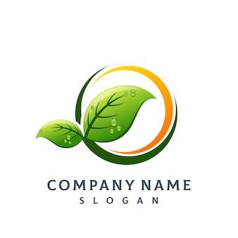 Logotipo da folha da árvore