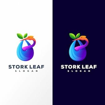 Logotipo da folha da cegonha