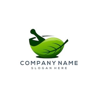 Logotipo da folha de ervas