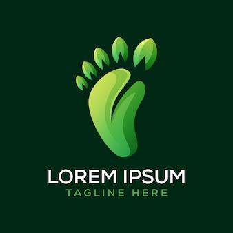 Logotipo da folha do pé