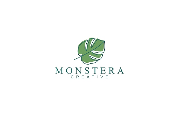 Logotipo da folha monstera