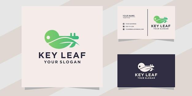 Logotipo da folha principal e modelo de cartão de visita