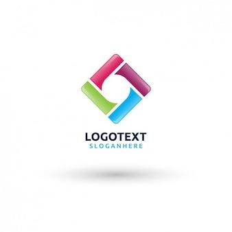Logotipo da forma abstrato colorido