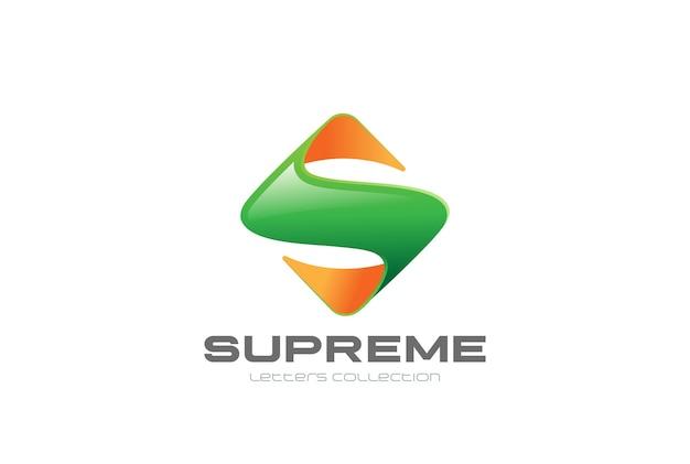 Logotipo da forma de losango quadrado da letra s.