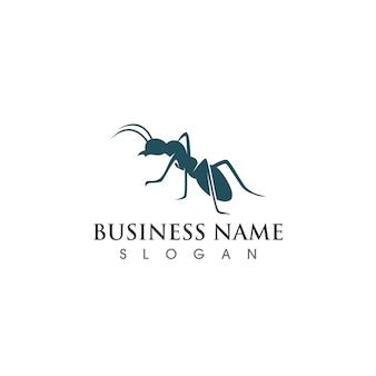 Logotipo da formiga e imagem vetorial de símbolo