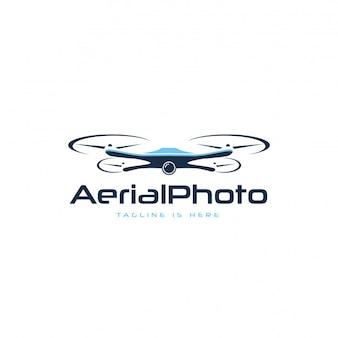 Logotipo da fotografia aérea