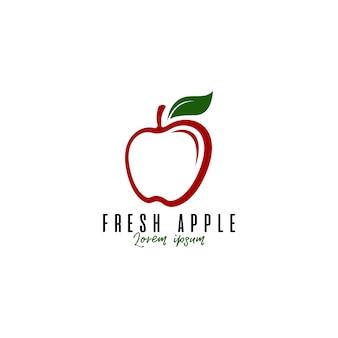 Logotipo da fruta da maçã