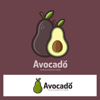 Logotipo da fruta de abacate
