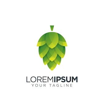Logotipo da fruta do lúpulo