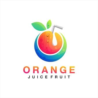 Logotipo da fruta suco de laranja