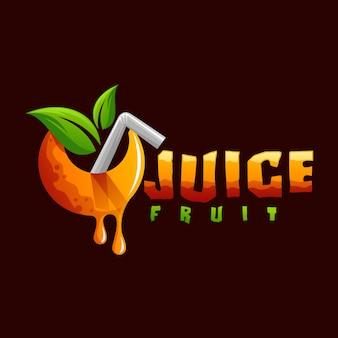 Logotipo da fruta suco