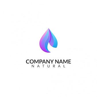 Logotipo da gota abstrata