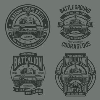 Logotipo da guerra do tanque