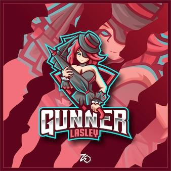 Logotipo da gunner lesley gaming esport