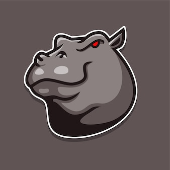 Logotipo da hipopótamo