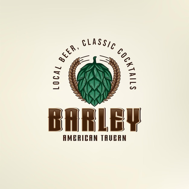 Logotipo da hop barley