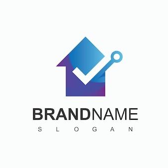 Logotipo da house of technology, símbolo de empresa start-up