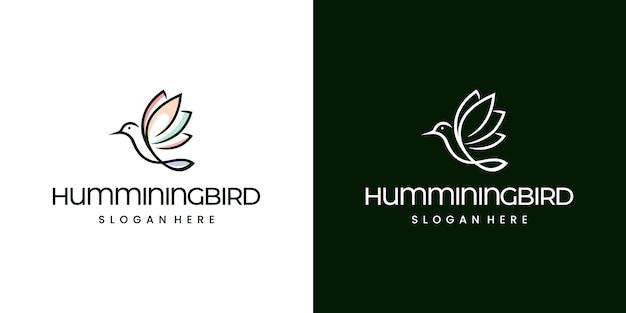 Logotipo da humminingbird monoline moderno