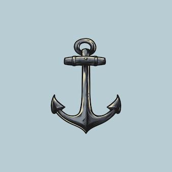 Logotipo da ilustração da âncora