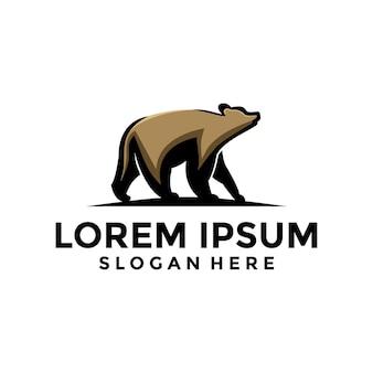 Logotipo da ilustração da pose do urso