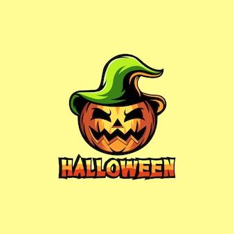Logotipo da ilustração de abóbora de halloween