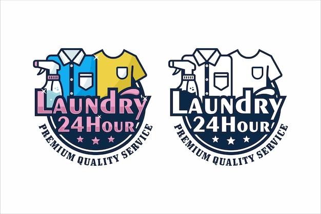 Logotipo da ilustração de design de lavanderia
