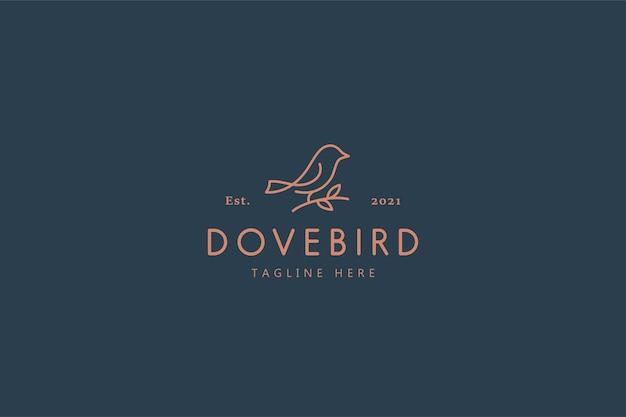 Logotipo da ilustração dove bird nature life