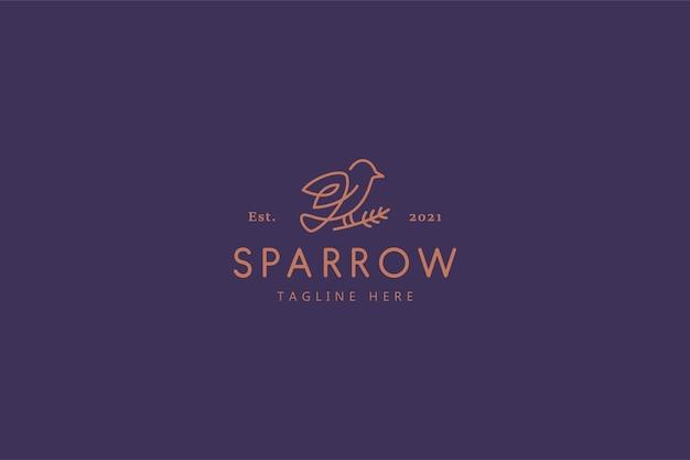 Logotipo da ilustração sparrow bird nature life